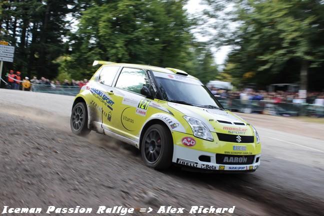 Aaron Burkart au rallye de France 2010